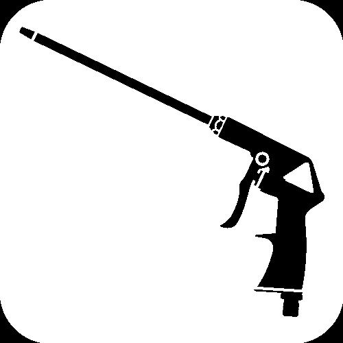 BLOW GUN WITH LONG NOZZLE PISTOLA SOFFIATRICE ARIA ANI 25//B2 A CANNA LUNGA
